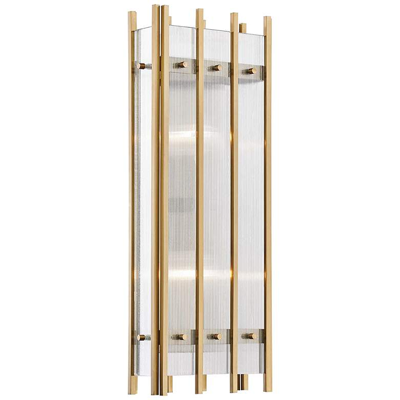 "Hudson Valley Wooster 20 1/4"" High Aged Brass Wall Sconce"