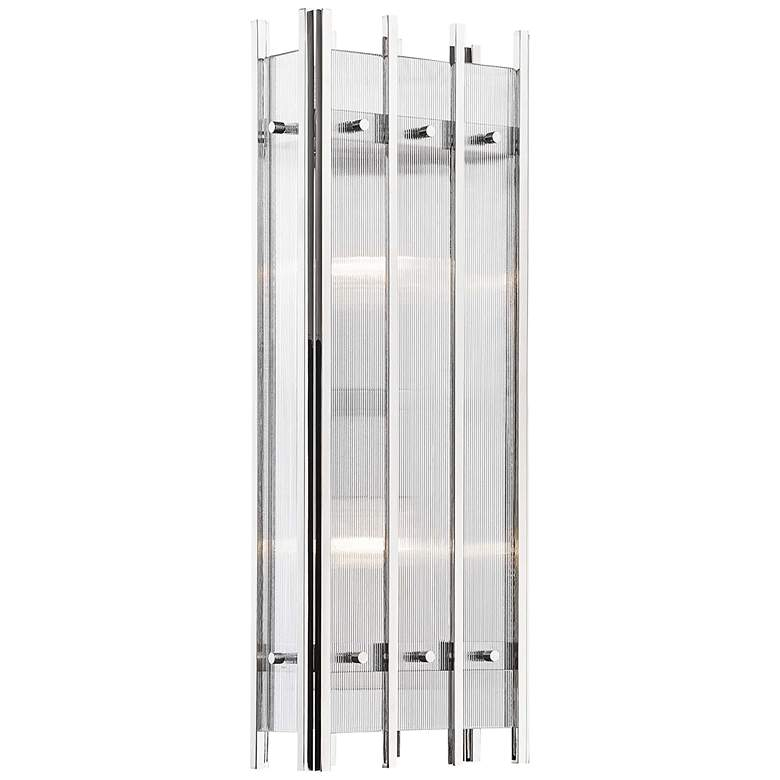 """Hudson Valley Wooster 20 1/4""""H Polished Nickel Wall Sconce"""