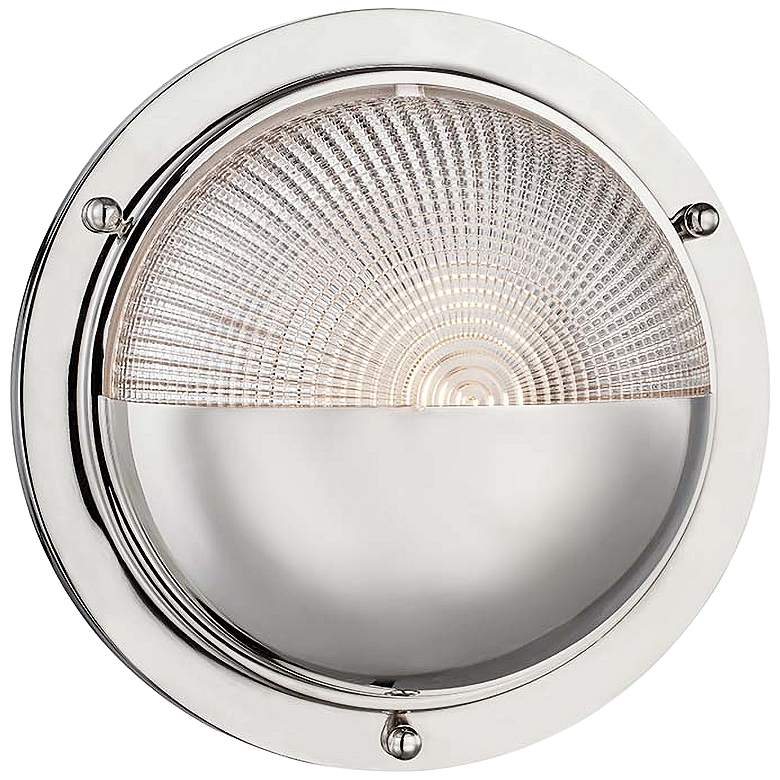 """Hughes 10 1/2"""" High Polished Nickel LED Wall Sconce"""