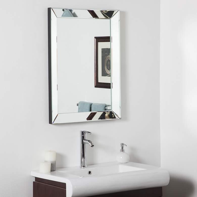 """Mirror Framed 23 1/2"""" x 31 1/2"""" Bathroom Wall Mirror"""