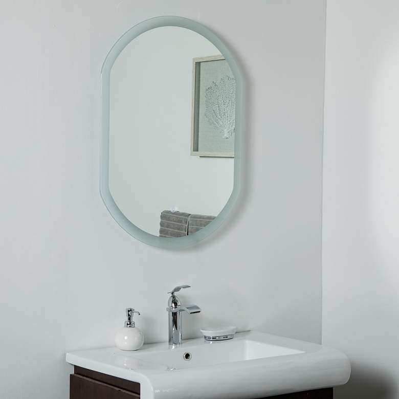 "Luka 23 1/2"" x 31 1/2"" Oval Backlit LED Wall Mirror"