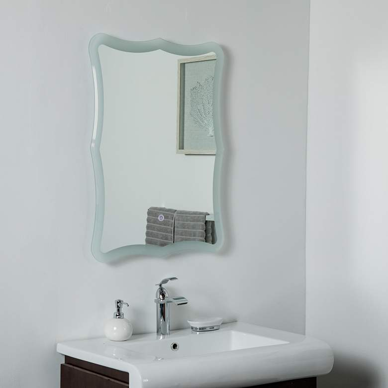 "Nikita 23 1/2"" x 31 1/2"" Novelty Backlit LED Wall Mirror"