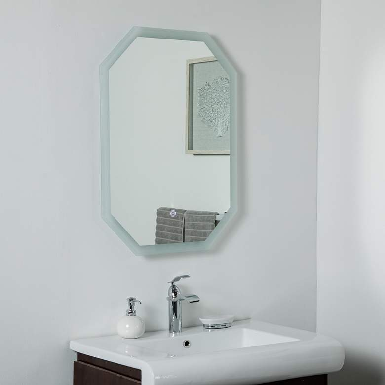 "Margot 23 1/2"" x 31 1/2"" Octagon Frameless LED Wall Mirror"