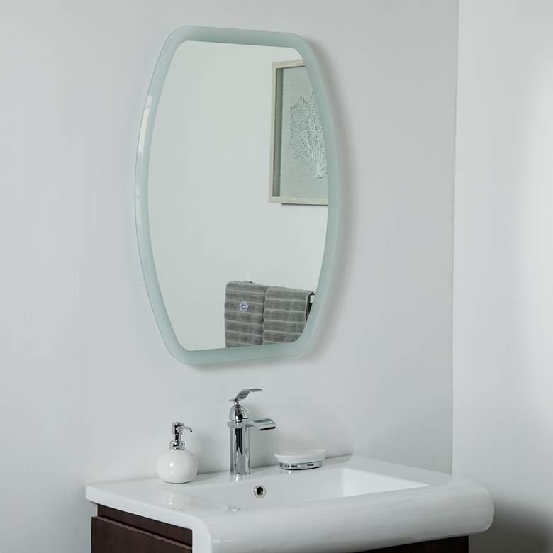 "Lexy 23 1/2"" x 31 1/2"" Oval Frameless LED Wall Mirror"