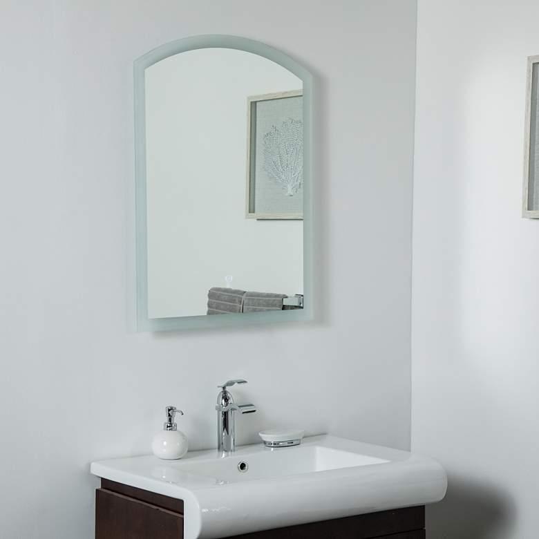 """Luna 23 1/2"""" x 31 1/2"""" Arch Top Backlit LED Wall Mirror"""