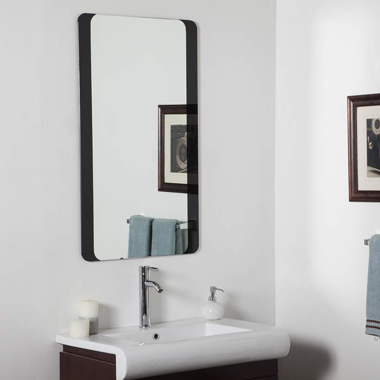 "Black Border 23 1/2"" x 39 1/2"" Bathroom"