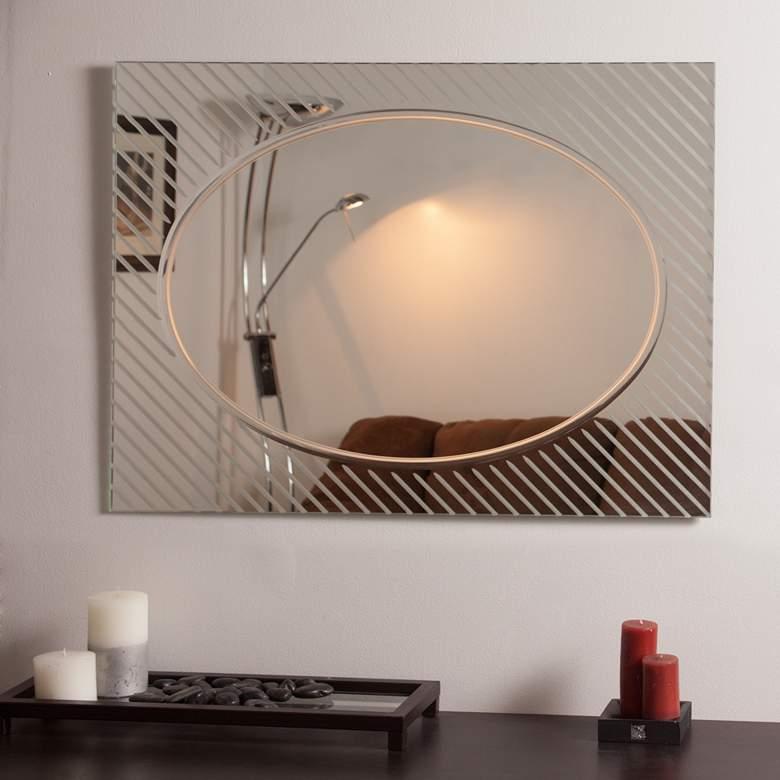 "Allegro 31 1/2"" x 23 1/2"" Frameless Bathroom Wall Mirror"