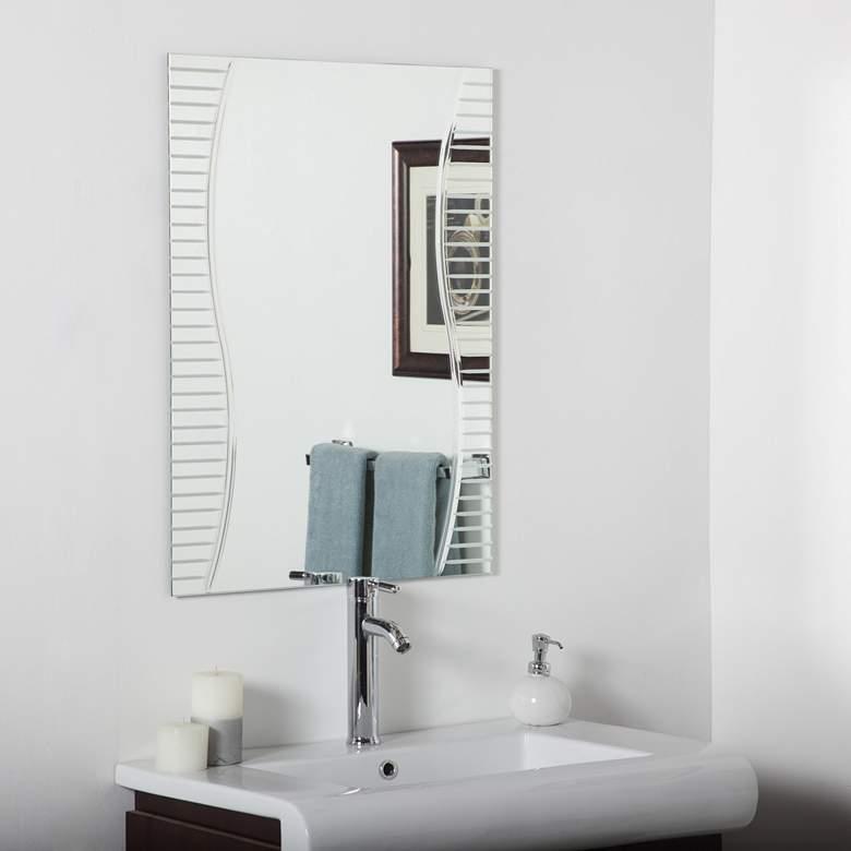 """Ava 23 1/2"""" x 31 1/2"""" Frameless Bathroom Wall Mirror"""