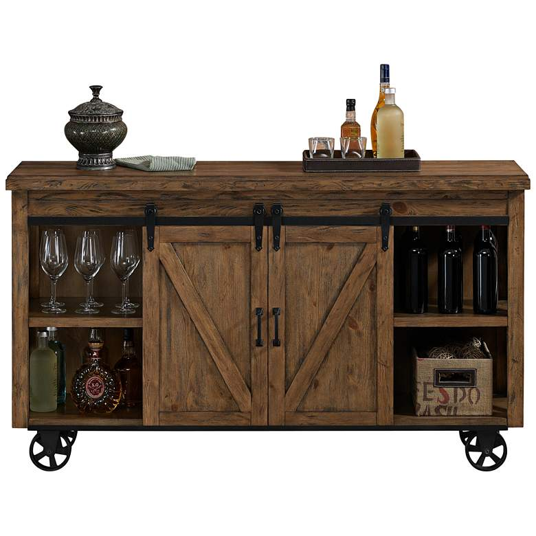 "American Heritage Gateway 62"" Wide Harvest Bar Cabinet"