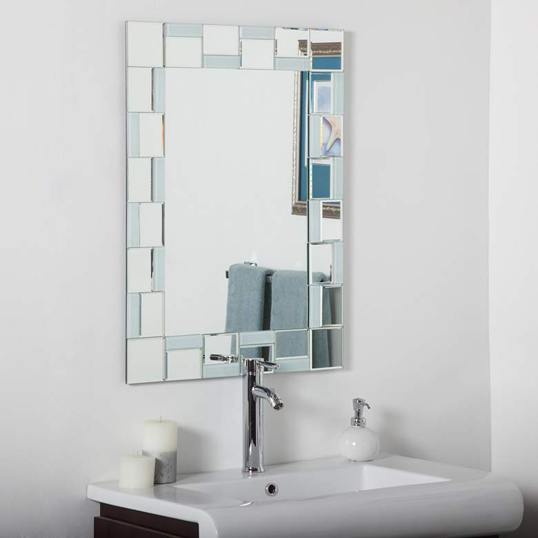Quebec 23 1 2 X 31 Rectangular Frameless Wall Mirror