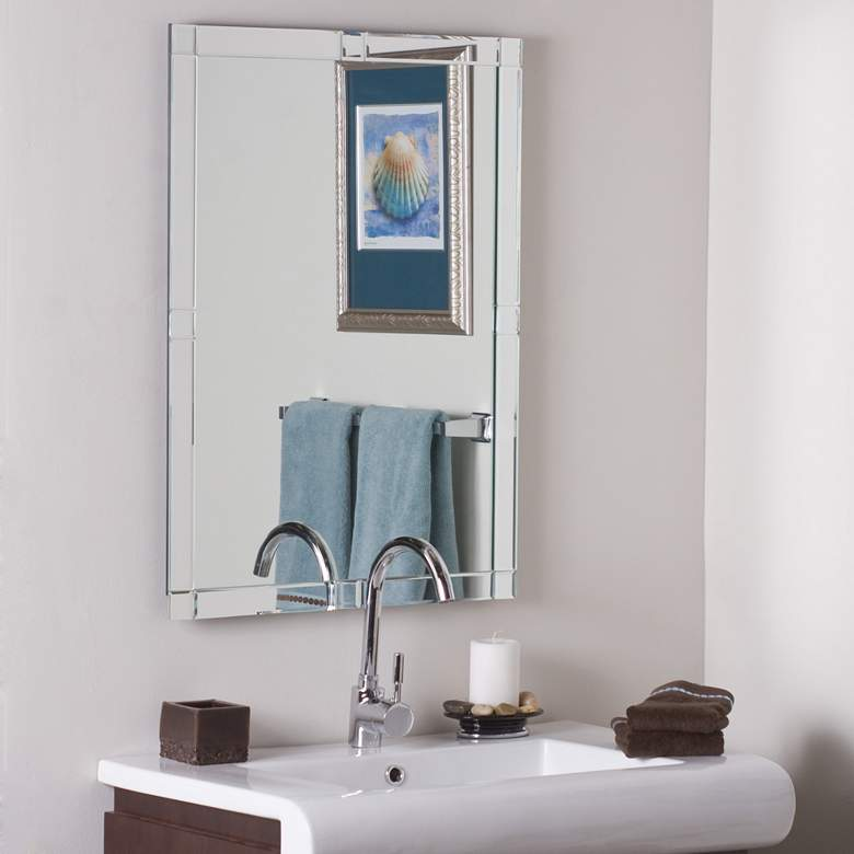 "Kinana 23 1/2"" x 31 1/2"" Frameless Bathroom Wall Mirror"
