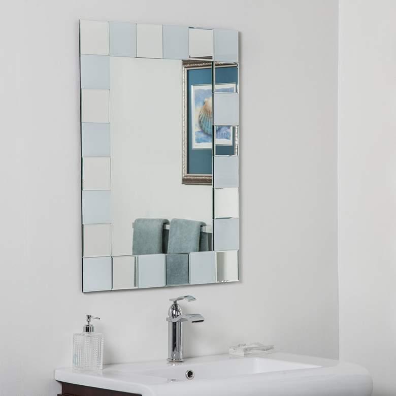 """Ali 23 1/2"""" x 31 1/2"""" Frameless Bathroom Wall Mirror"""