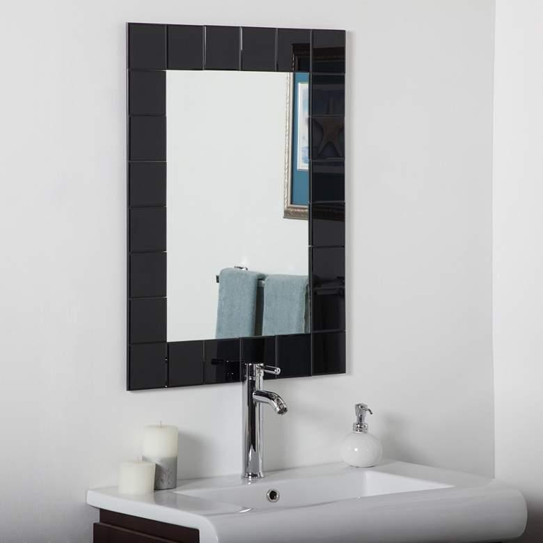 "Montreal Black 23 1/2"" x 31 1/2"" Frameless Bathroom Mirror"