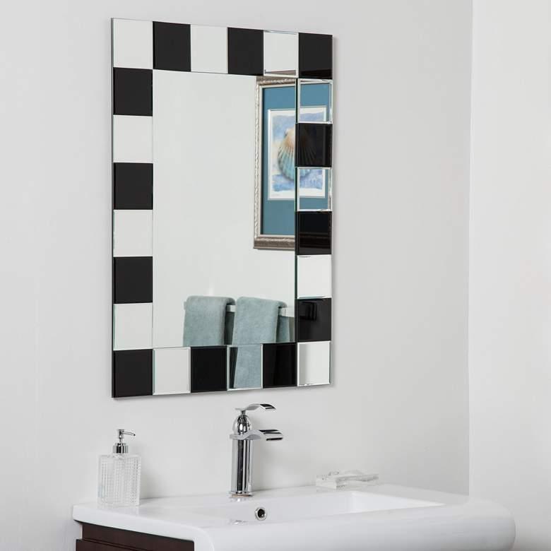 "Prince 23 1/2"" x 31 1/2"" Rectangular Frameless Wall Mirror"