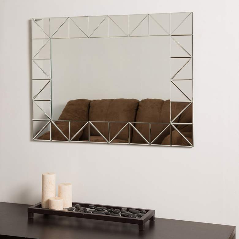 """Miami 31 1/2"""" x 23 1/2"""" Rectangular Frameless Wall Mirror"""