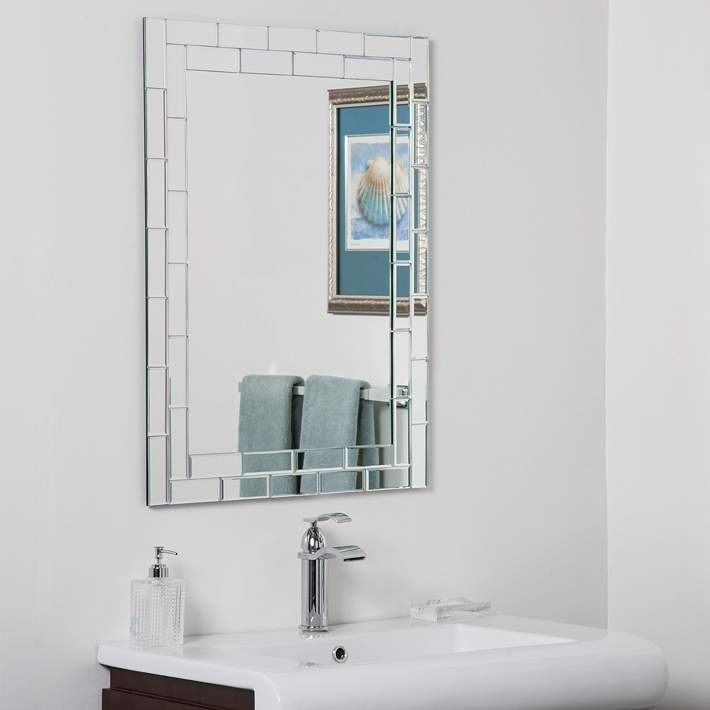 Grand Street 23 1 2 X 31 1 2 Frameless Bathroom Mirror 73f87 Lamps Plus