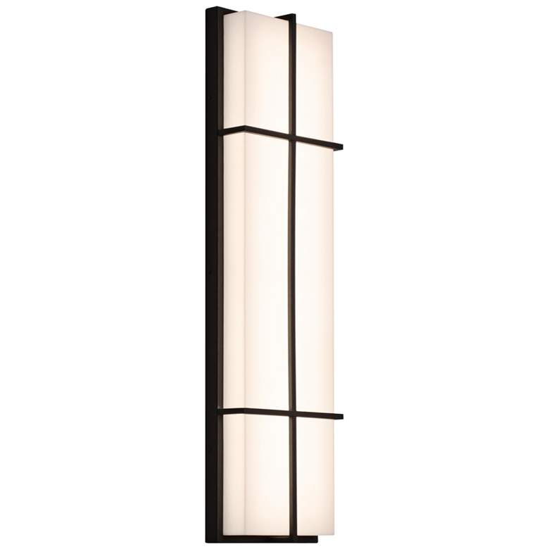 """Avenue 36"""" High Textured Bronze LED Outdoor Wall"""