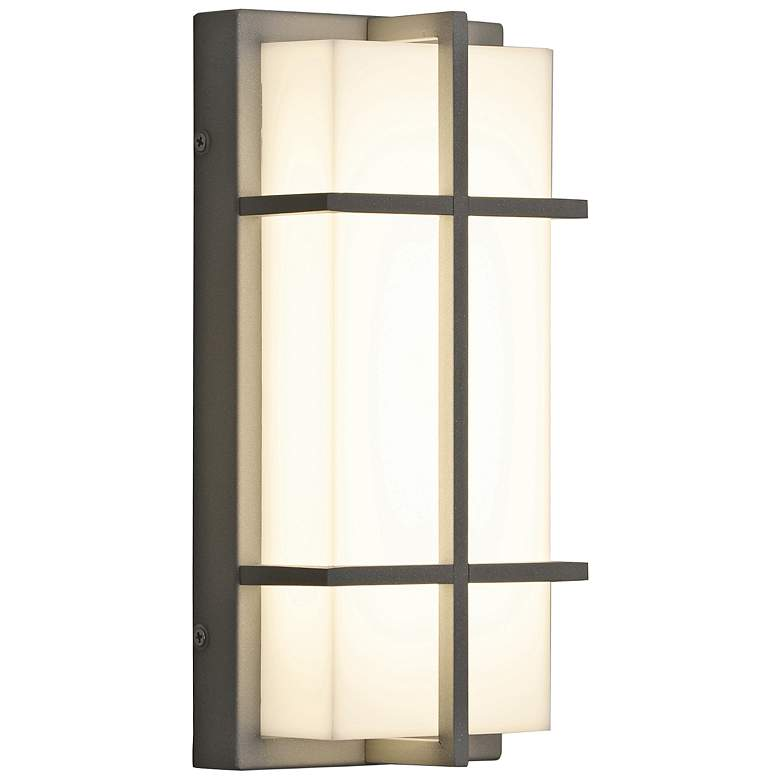 """Avenue 12"""" High Textured Gray LED Outdoor Wall Light"""
