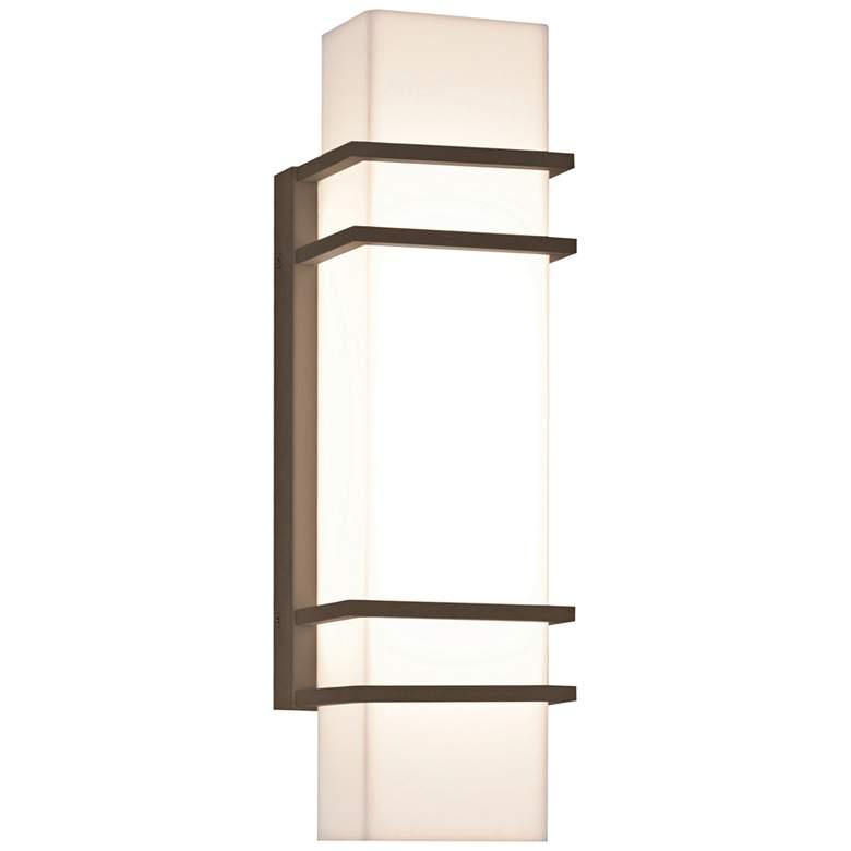 "Blaine 15 3/4"" High Textured Bronze LED Outdoor"