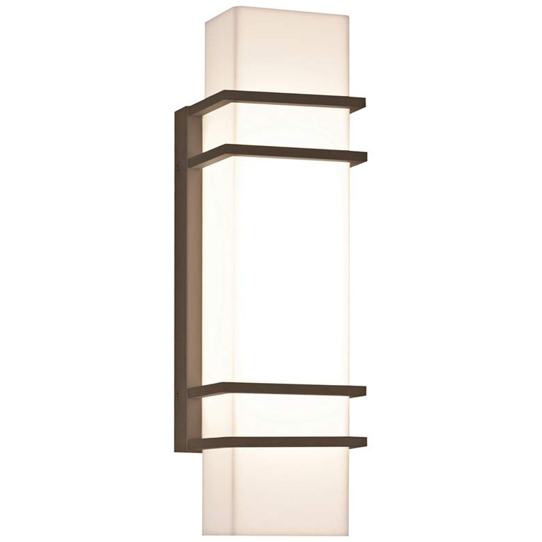 "Blaine 15 3/4"" High Textured Bronze LED Outdoor Wall Light"