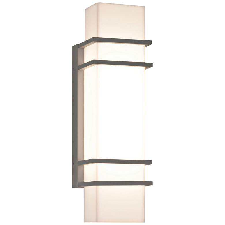 "Blaine 15 3/4"" High Textured Gray LED Outdoor Wall Light"