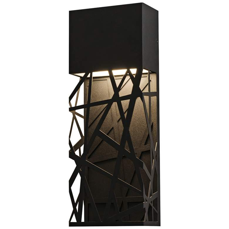 "Boon 16"" High Black Powder Coated LED Outdoor Wall Light"