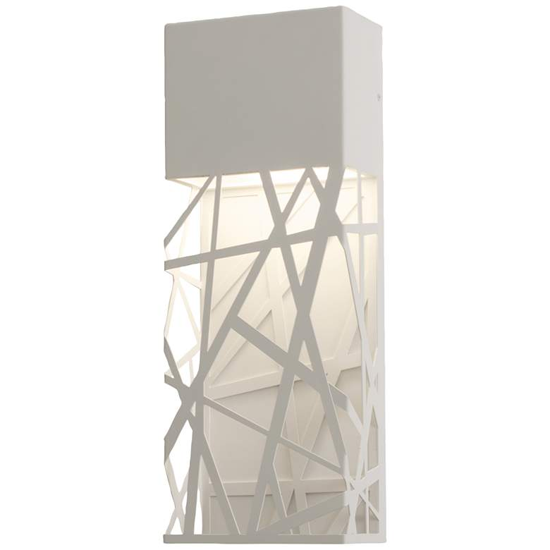 "Boon 16"" High White Powder Coated LED Outdoor"