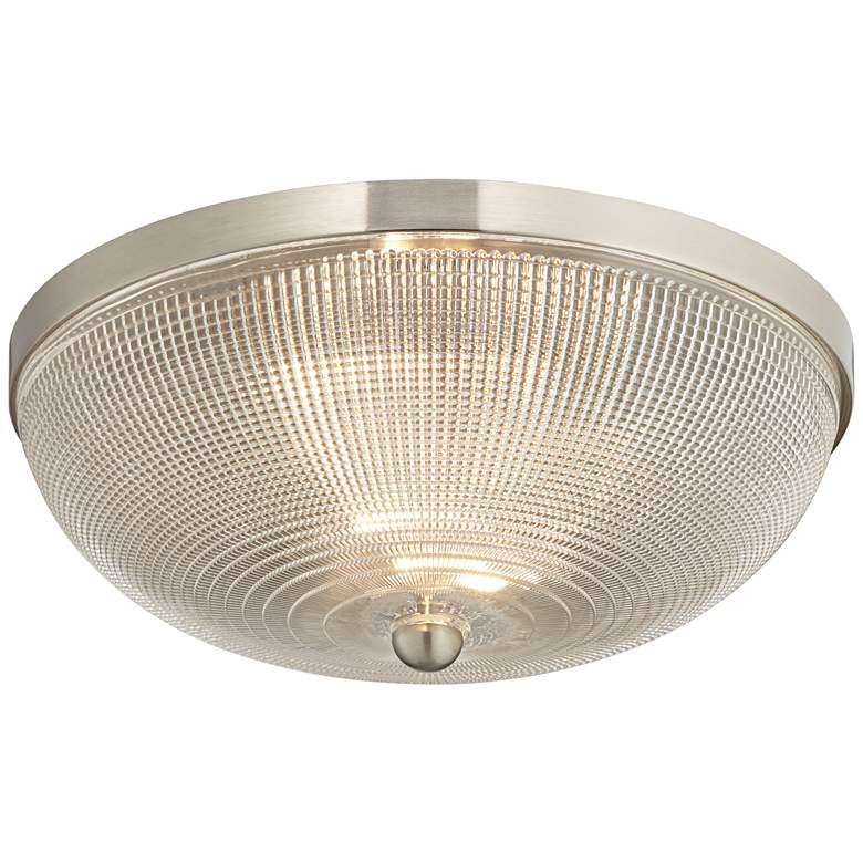 "Possini Euro Caitlin 14"" Wide Brushed Nickel Ceiling"