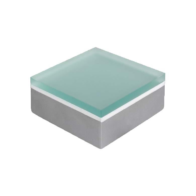 """Fresco 4""""x4"""" Square White LED Brick Light w/ Tempered Glass"""
