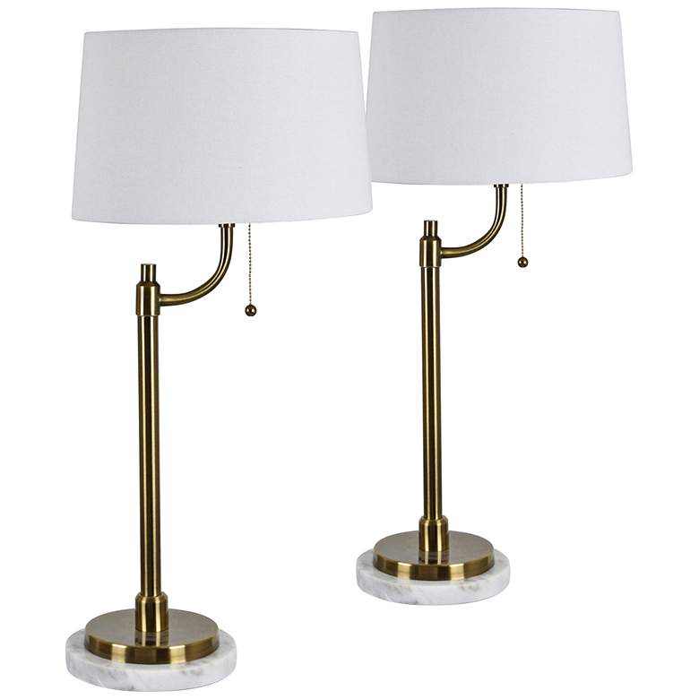Crestview Collection Nash Honey Brass Table Lamps Set