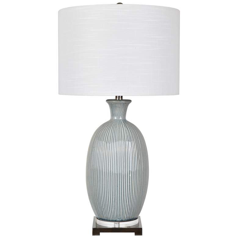 Crestview Collection Carrefour Gray Ceramic Table Lamp