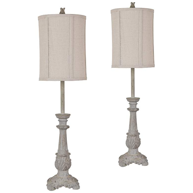 Bayley Sand Stone Buffet Table Lamps Set of 2
