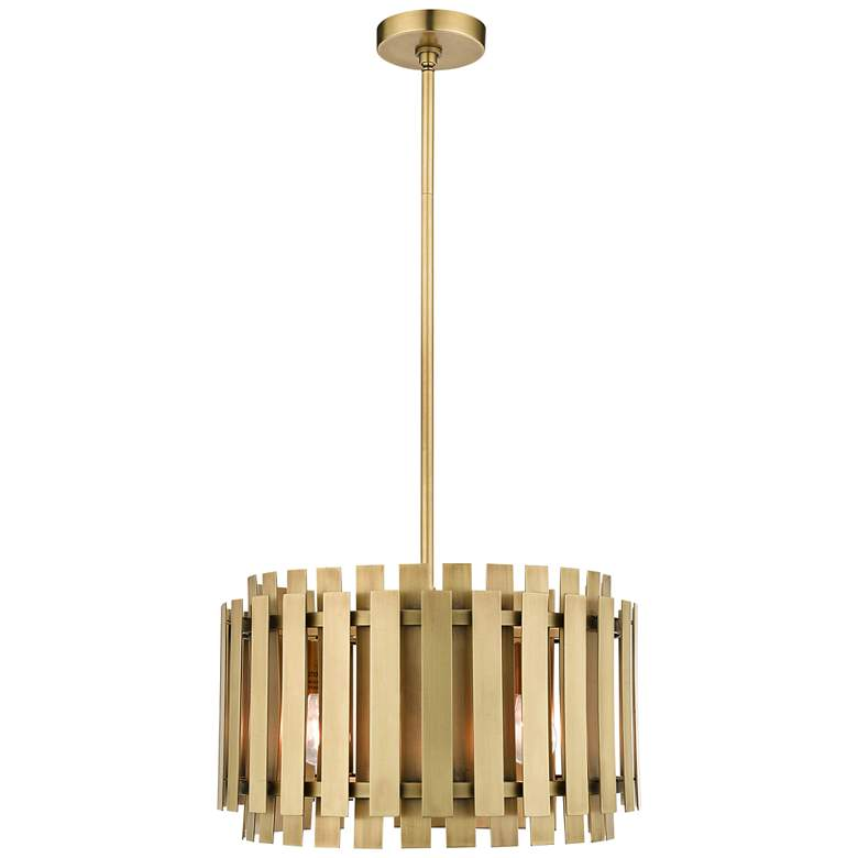 """Greenwich 18"""" Wide Natural Brass Metal Pendant Light"""