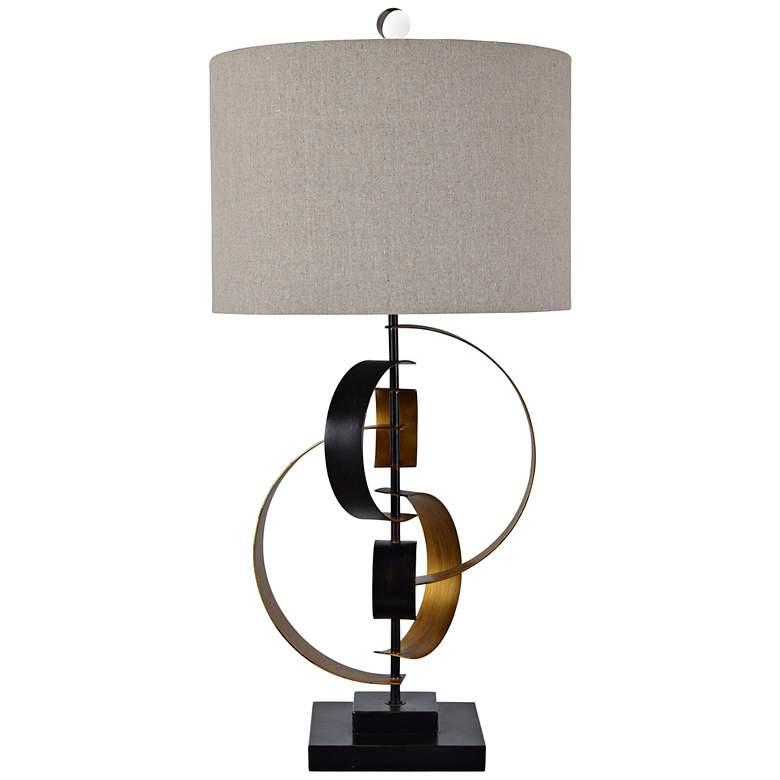 Bentley Dark Bronze and Gold Free Form Sculpture Table Lamp