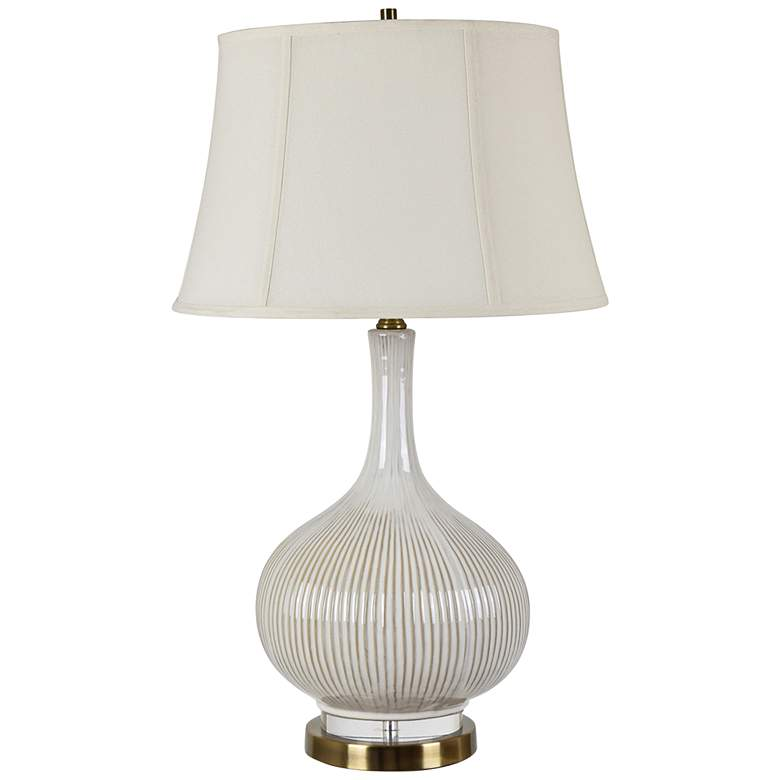 Crestview Collection Sawyer White Ceramic Vase Table Lamp