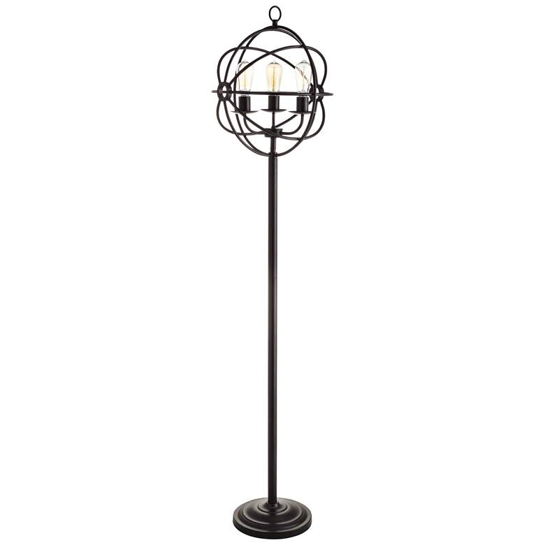 Crestview Collection Global Oiled Bronze Metal Floor Lamp