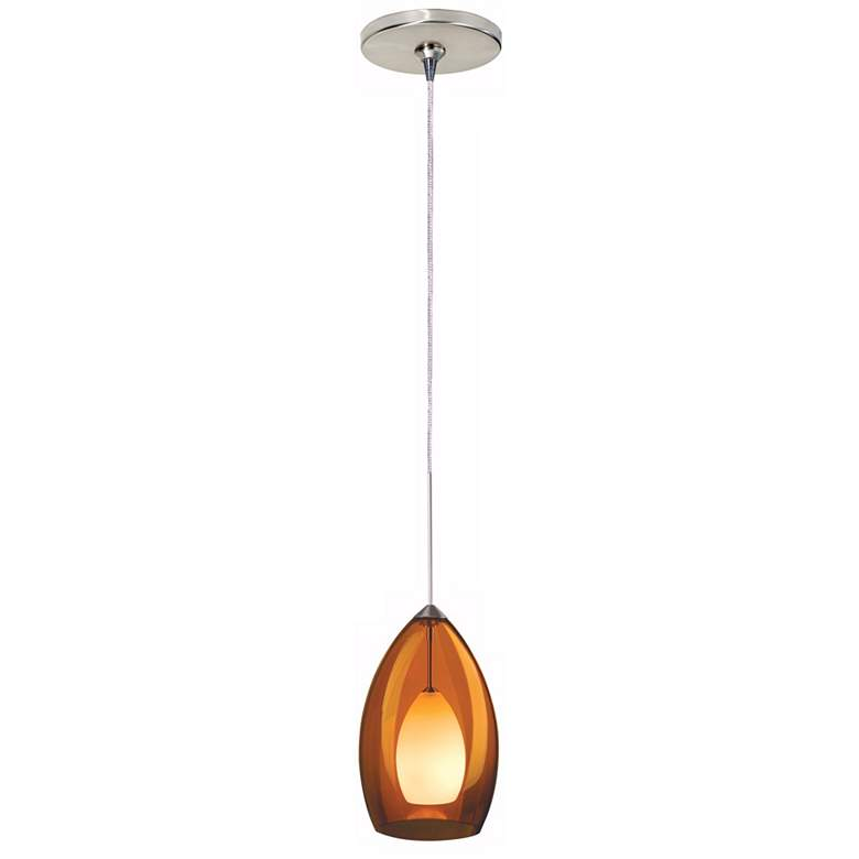 "Tech Lighting Fire 4 1/2""W Amber Glass Freejack Mini Pendant"