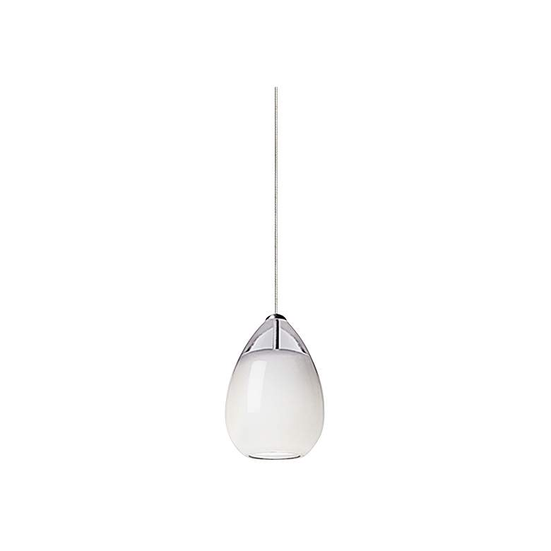 "Tech Lighting Alina 4""W White Glass Freejack Mini Pendant"