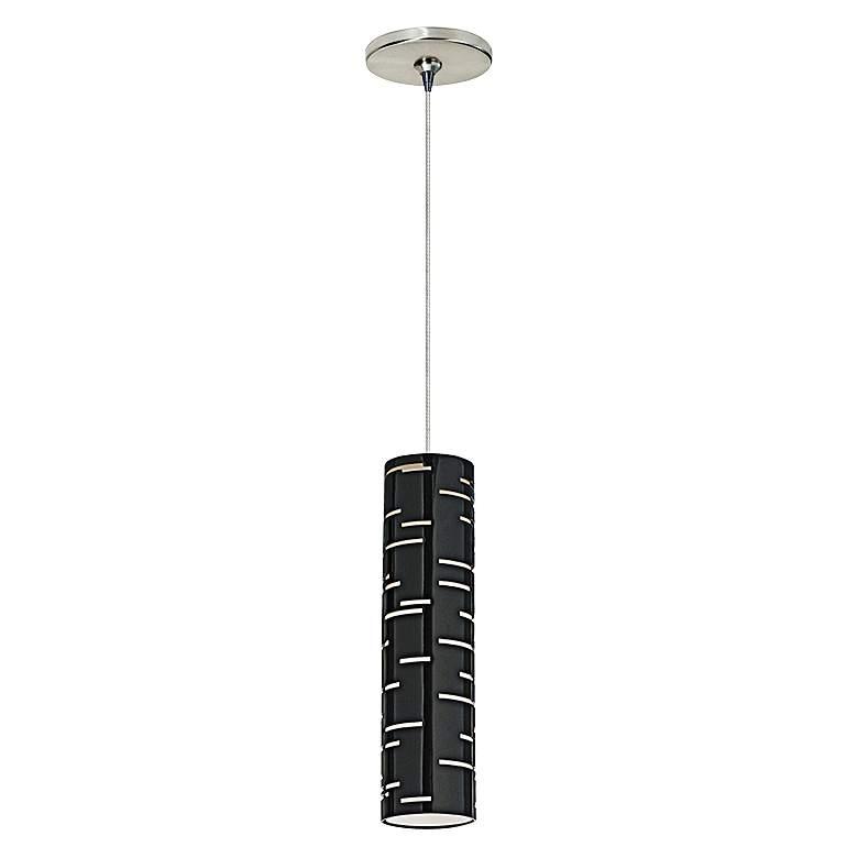 """Revel 2 3/4"""" Wide Gloss Black Freejack Mini Pendant Light"""