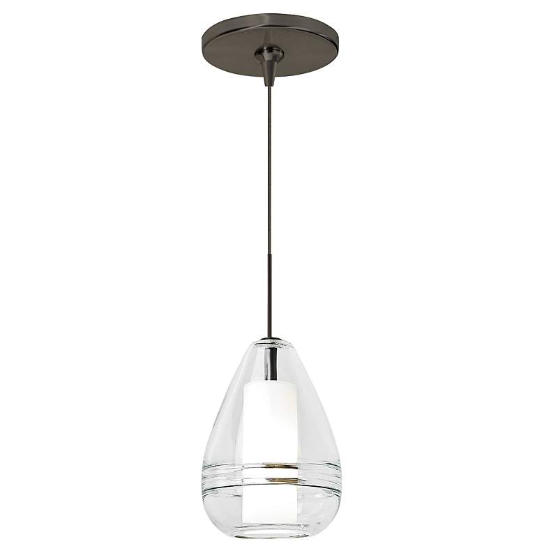 "Mini Ella 5"" Wide Clear Glass Freejack Mini Pendant Light"