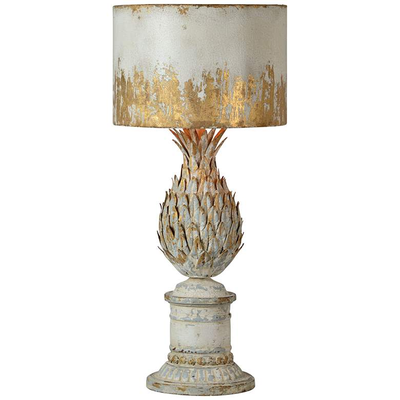 Forty West Pauline Antique White and Gold Metal Table Lamp