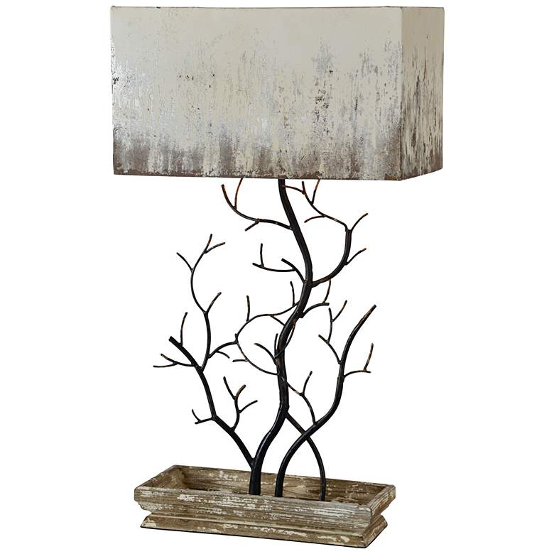 Forty West Mary Sue Antique Black Metal Table Lamp