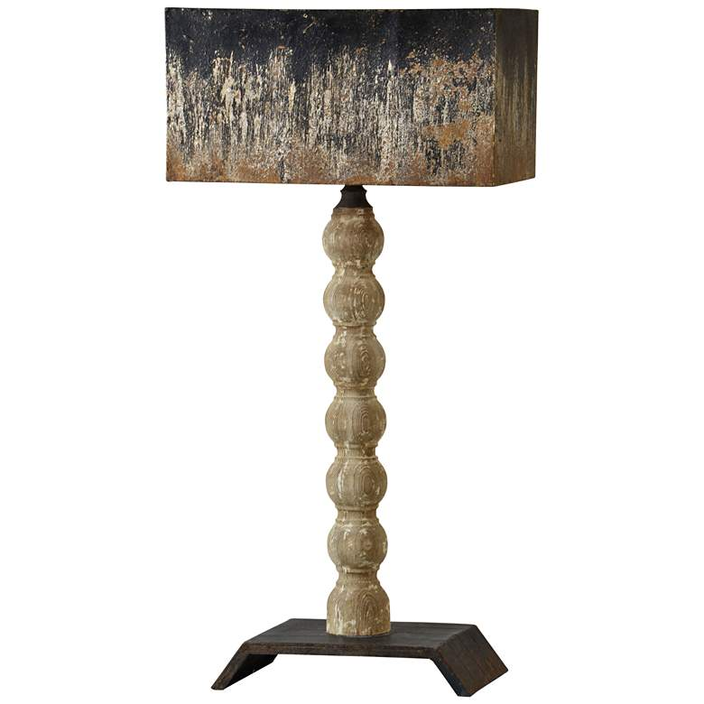 Forty West Harriet Natural Wood with White-Wash Table Lamp