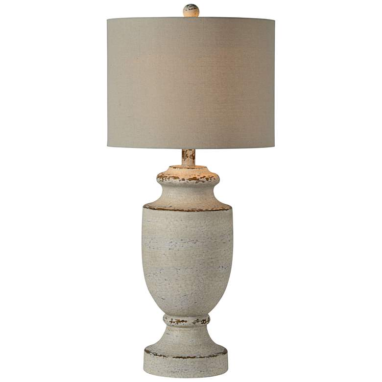 Forty West Barb Gray Wash Table Lamp