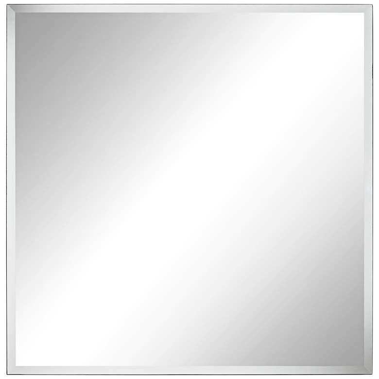 "Brix 34"" Wide Frameless Square Vanity Mirror"
