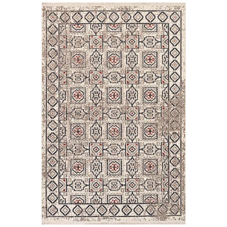 "Trans-Ocean Bergen 6208/12 4'10""x7'6"" Ivory Tile Area Rug"