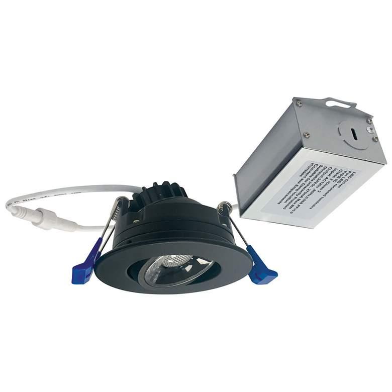 "Nora 2"" Matte Black 8 Watt LED Adjustable Gimbal Downlight"