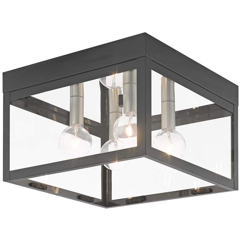 """Nyack 10 1/2"""" Wide Scandinavian Gray Outdoor Ceiling Light"""