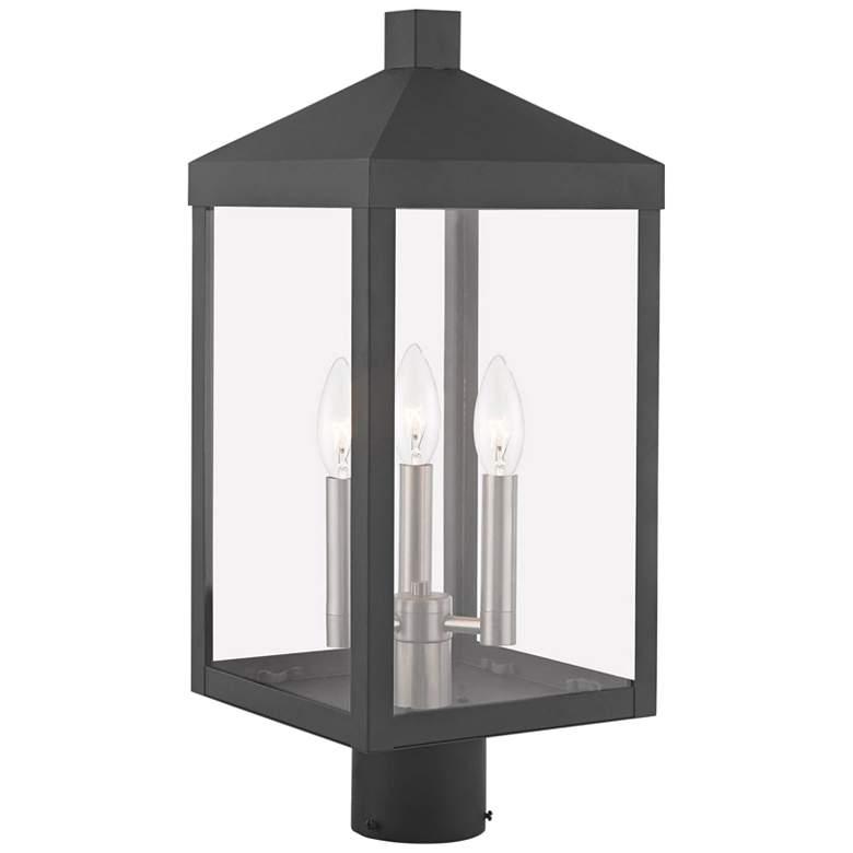 "Nyack 19 1/2""H Scandinavian Gray Outdoor Lantern Post"
