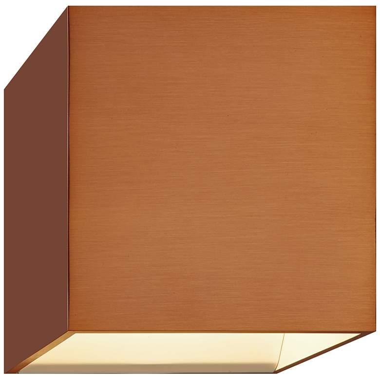 "Bruck QB 4 1/2"" High Copper LED Wall Sconce"